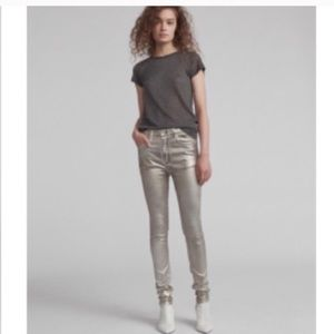 rag & bone High Rise Skinny Coated Jean Size 28